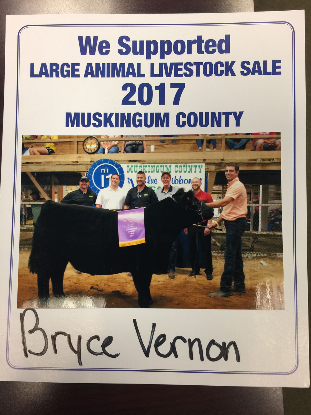 2017 Zemba Bros Community Support Muskingum County Fair Live Stock Auction 1