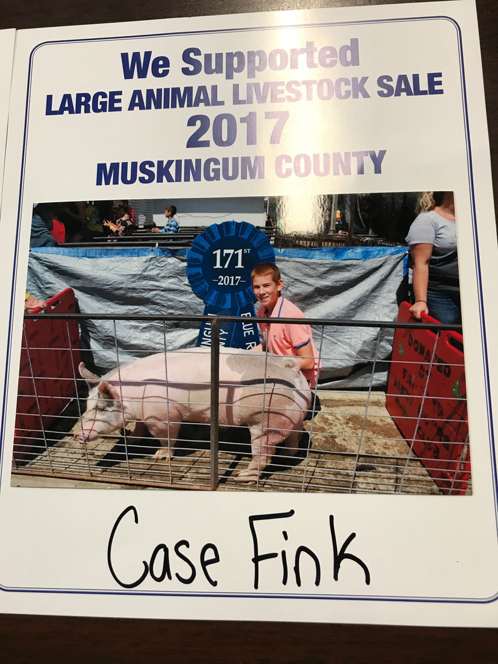 2017 Zemba Bros Community Support Muskingum County Fair Live Stock Auction 3
