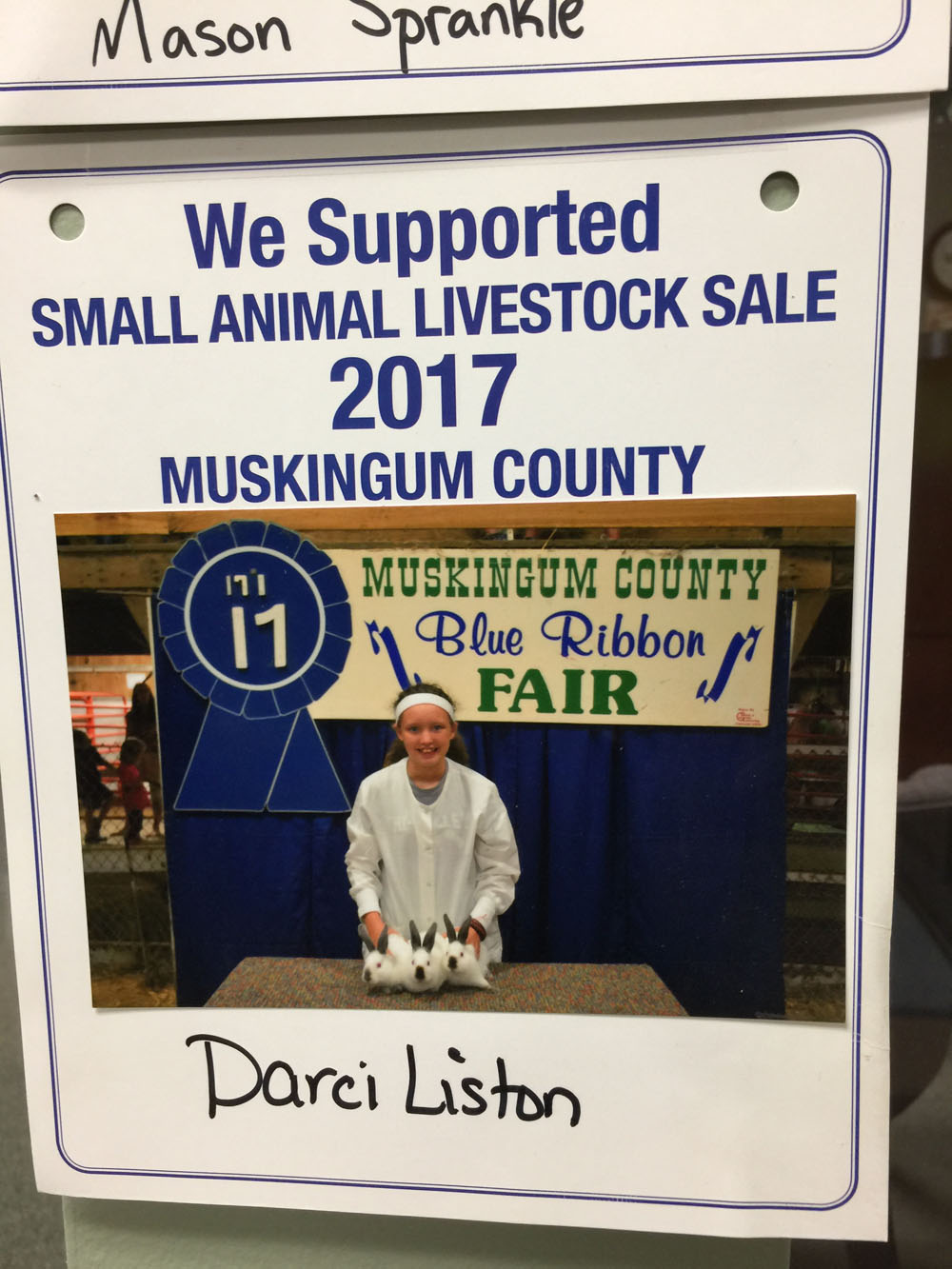2017 Zemba Bros Community Support Muskingum County Fair Live Stock Auction 5