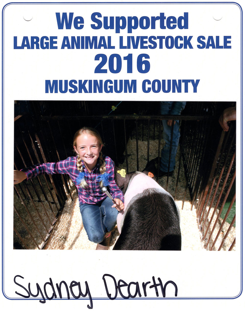 Zemba Bros Community Support Muskingum County Fair Live Stock Auction 1