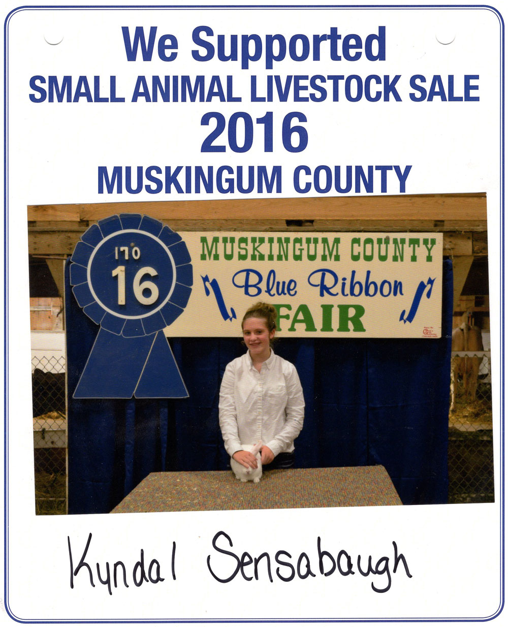 Zemba Bros Community Support Muskingum County Fair Live Stock Auction 5