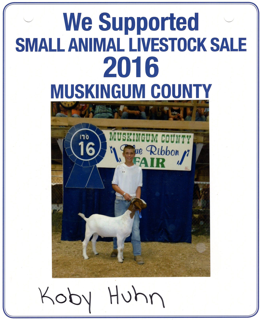 Zemba Bros Community Support Muskingum County Fair Live Stock Auction 6