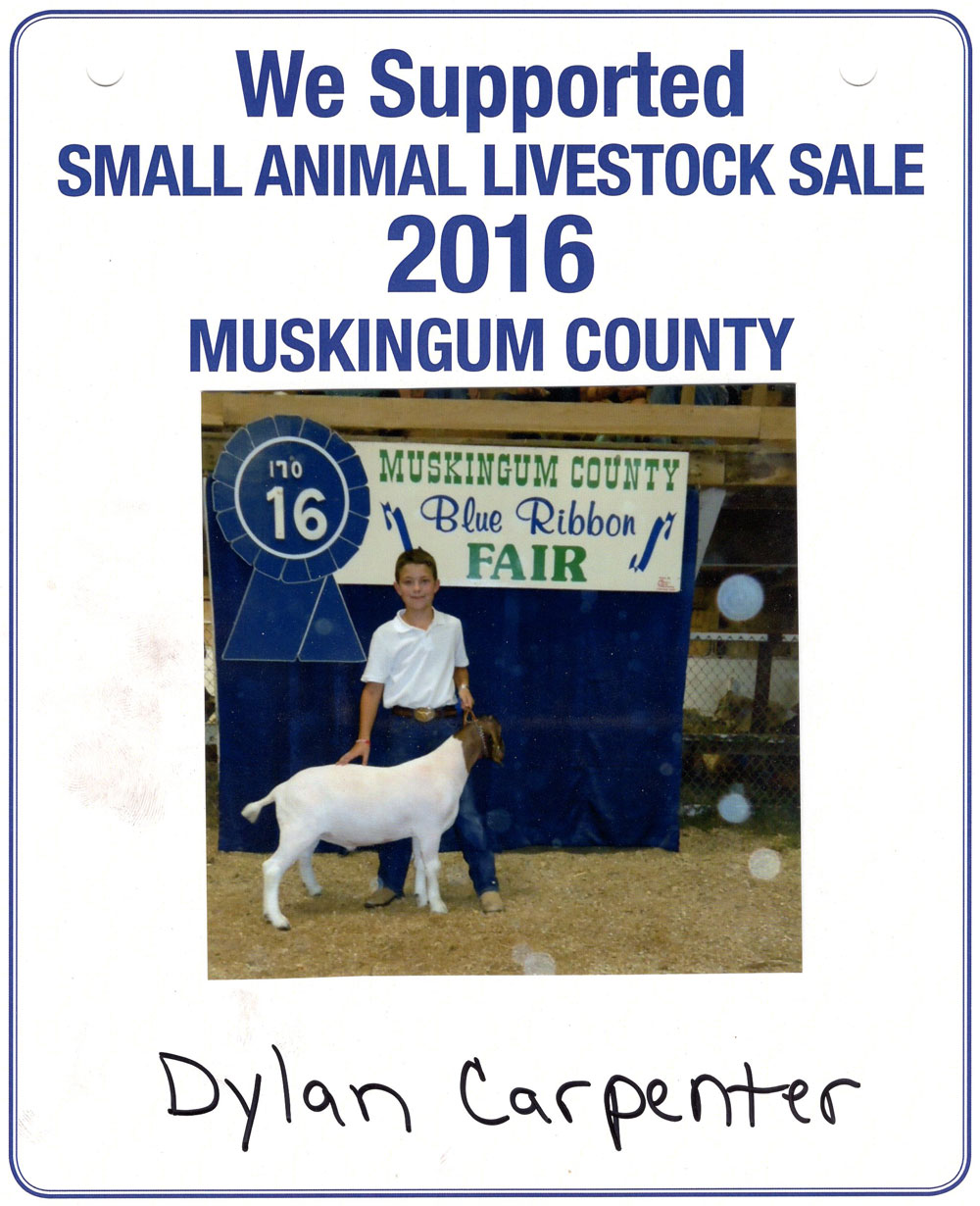 Zemba Bros Community Support Muskingum County Fair Live Stock Auction 7